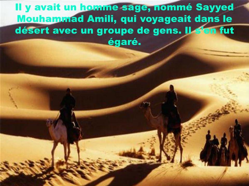 Il y avait un homme sage, nommé Sayyed Mouhammad Amili, qui voyageait dans le désert avec un groupe de gens.