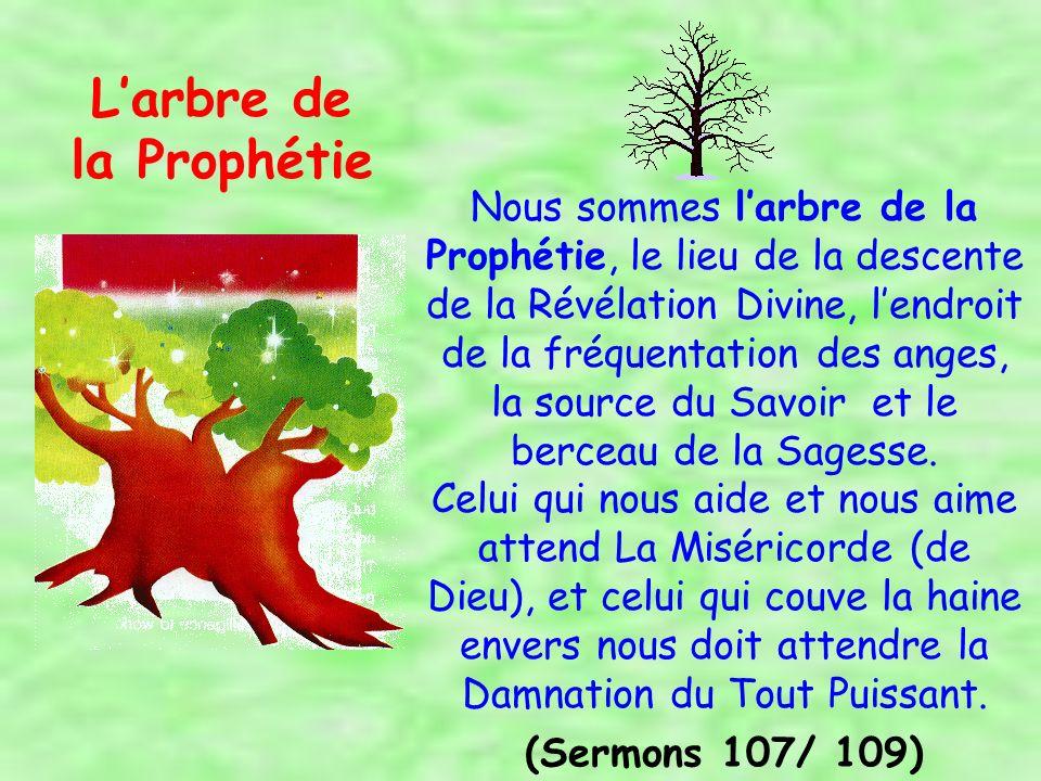 A eux (les Gens de la Maison du Prophète), appartiennent les plus nobles des vertus humaines décrites dans le Quran, et ils sont les trésors dAllah Le Bienfaisant.