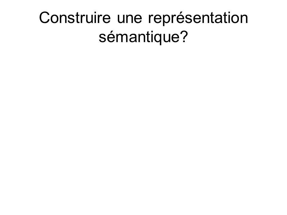 Construire une représentation sémantique