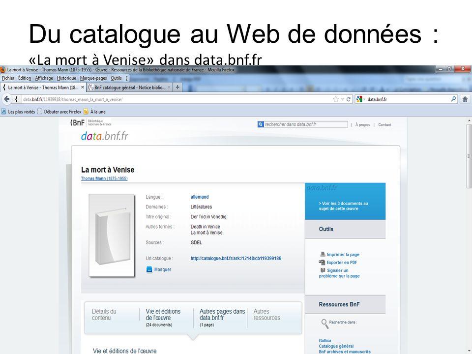 Du catalogue au Web de données : «La mort à Venise» dans data.bnf.fr