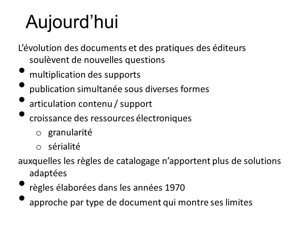 Lévolution des documents et des pratiques des éditeurs soulèvent de nouvelles questions multiplication des supports publication simultanée sous divers