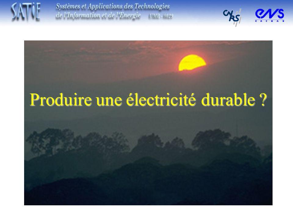 Produire une électricité durable ?