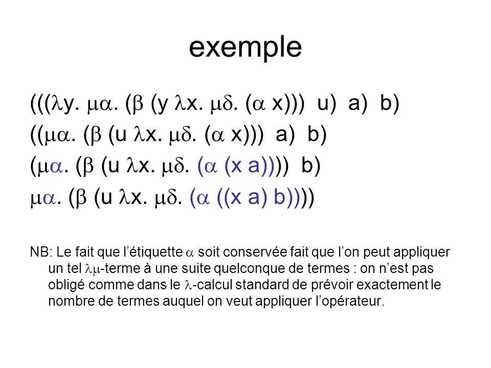 exemple ((( y.. ( (y x.. ( x))) u) a) b) ((. ( (u x..
