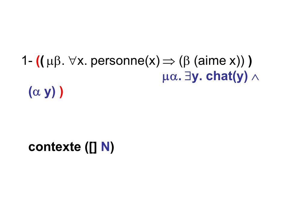 contexte ([] N)