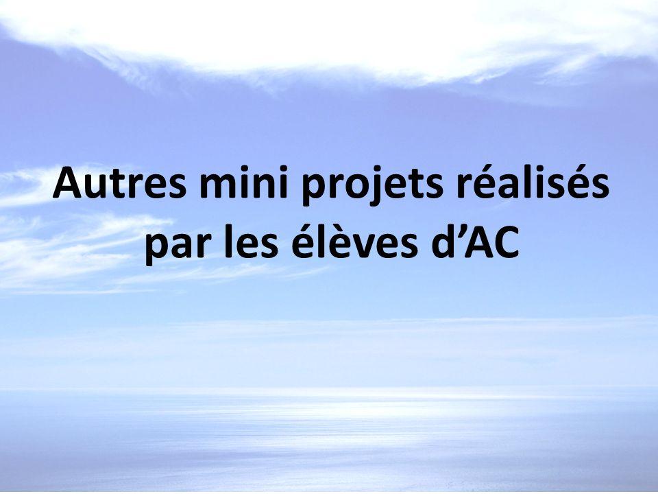 Autres mini projets réalisés par les élèves dAC