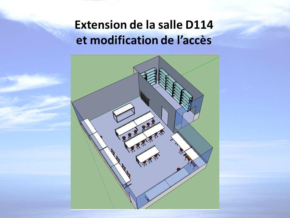 Extension de la salle D114 et modification de laccès