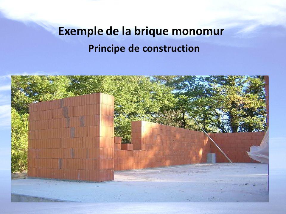 Exemple de la brique monomur Principe de construction