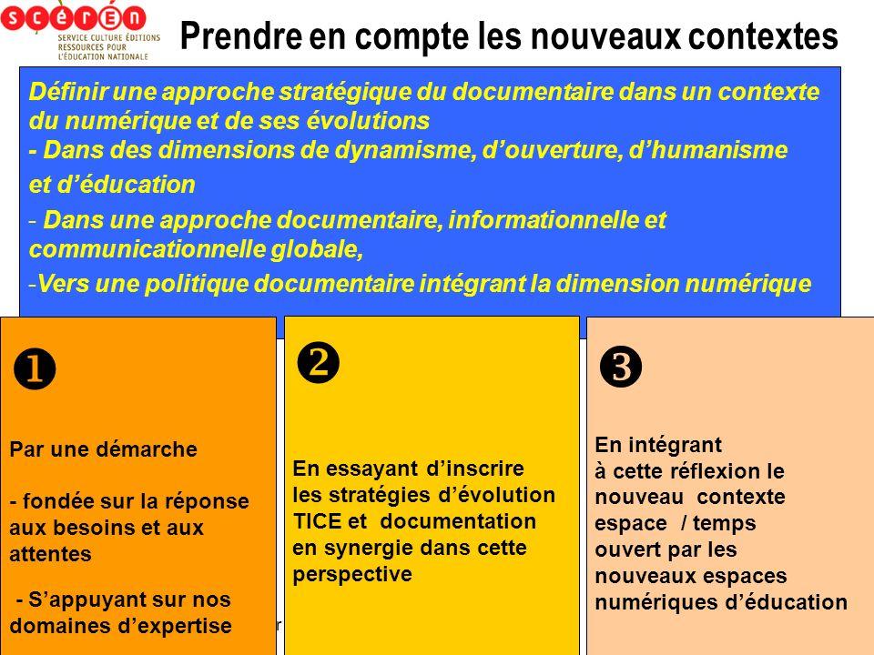gerard.puimatto@ac-aix-marseille.fr Prendre en compte les nouveaux contextes Définir une approche stratégique du documentaire dans un contexte du numé