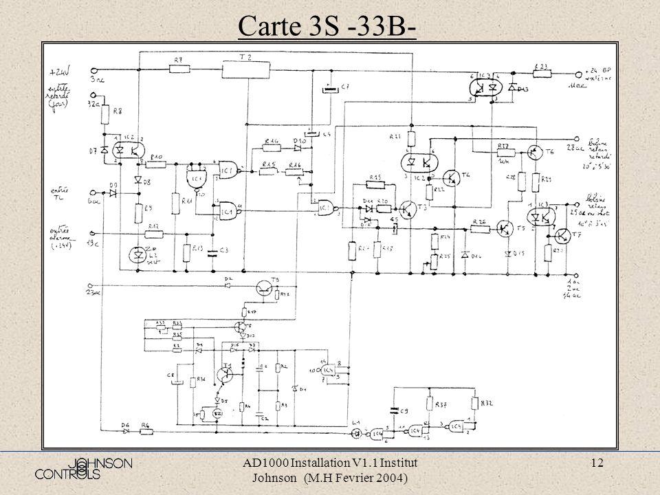 AD1000 Installation V1.1 Institut Johnson (M.H Fevrier 2004) 11 Carte ALG4 -29B-