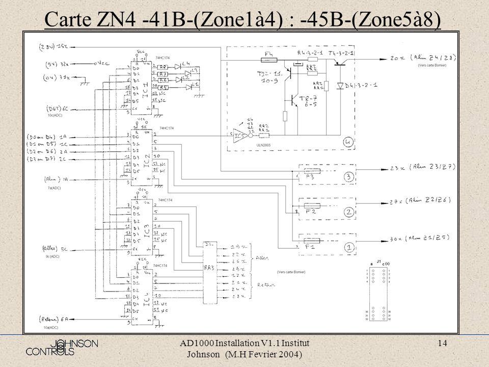 AD1000 Installation V1.1 Institut Johnson (M.H Fevrier 2004) 13 Carte ALI5 CPU-37B- (ALI 5 IMP-23H-)