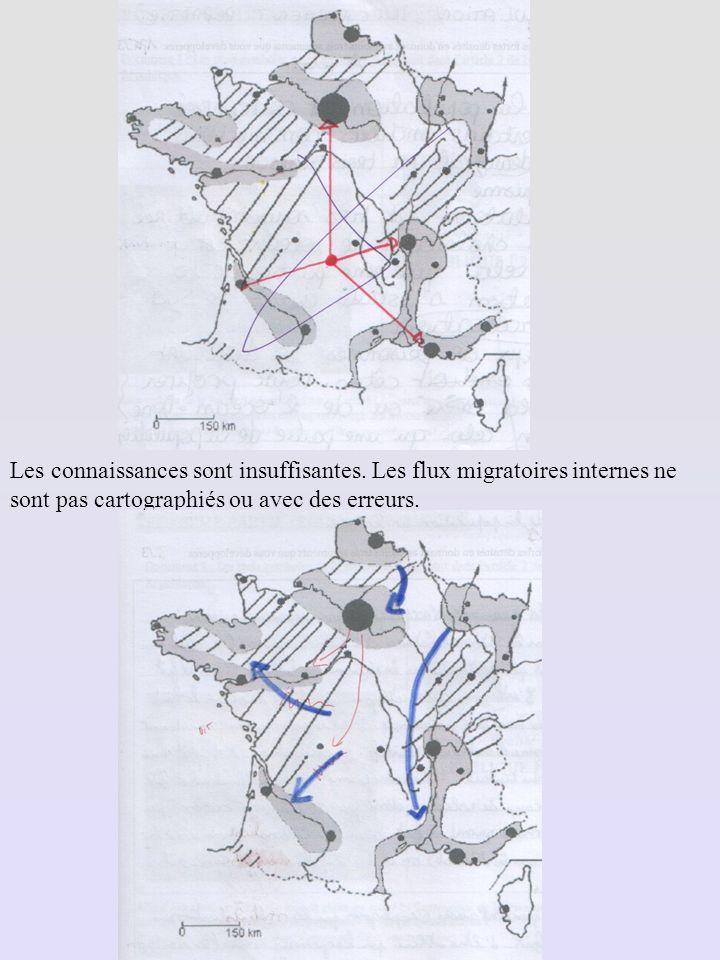 Les connaissances sont insuffisantes. Les flux migratoires internes ne sont pas cartographiés ou avec des erreurs.