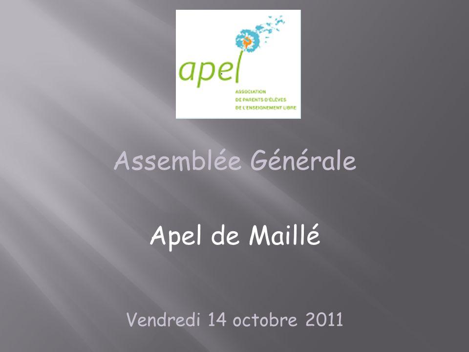Assemblée Générale Apel de Maillé Vendredi 14 octobre 2011