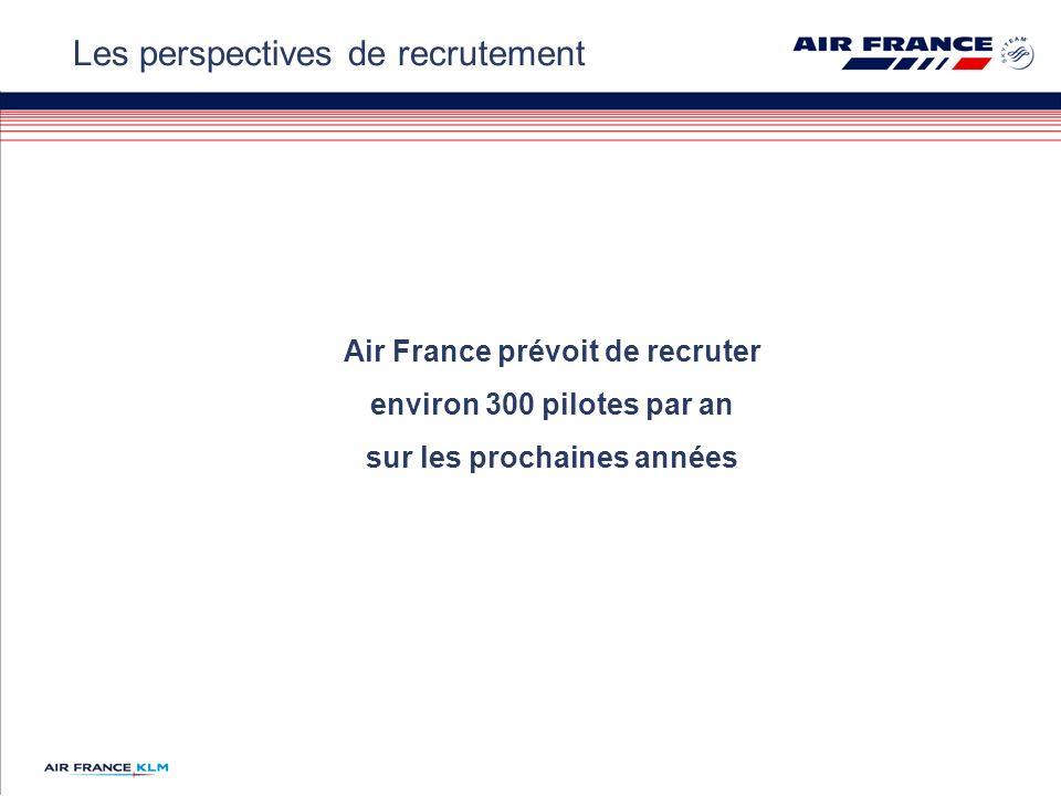 Air France prévoit de recruter environ 300 pilotes par an sur les prochaines années