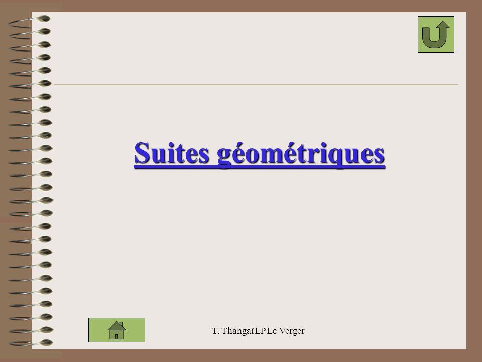 T. Thangaï LP Le Verger Suites géométriques