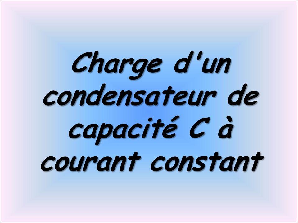 Charge d'un condensateur de capacité C à courant constant