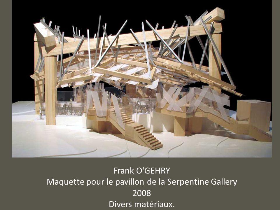 Frank O'GEHRY Maquette pour le pavillon de la Serpentine Gallery 2008 Divers matériaux.