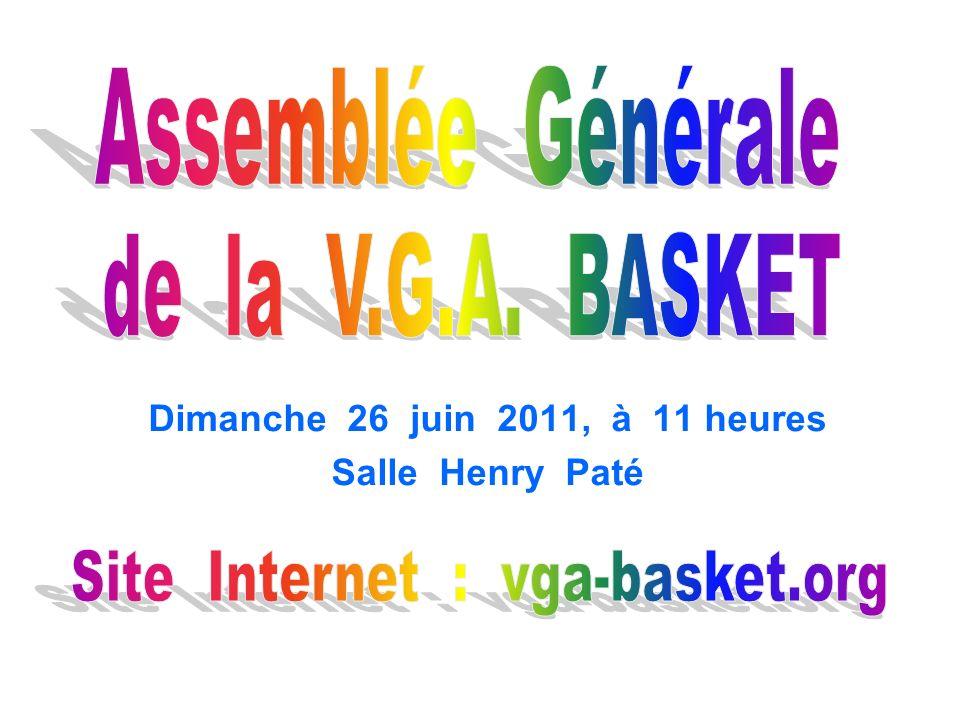 Dimanche 26 juin 2011, à 11 heures Salle Henry Paté