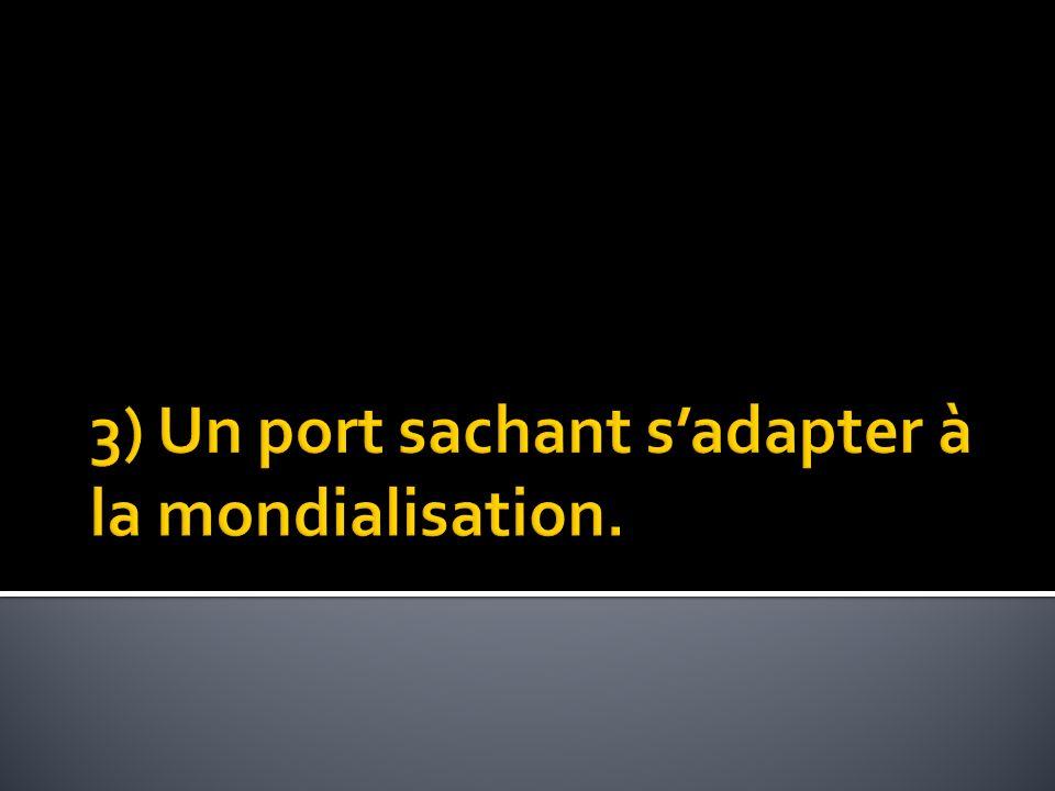 Carte sur les différents aménagements du port du 14 ème au 21 ème siècles.