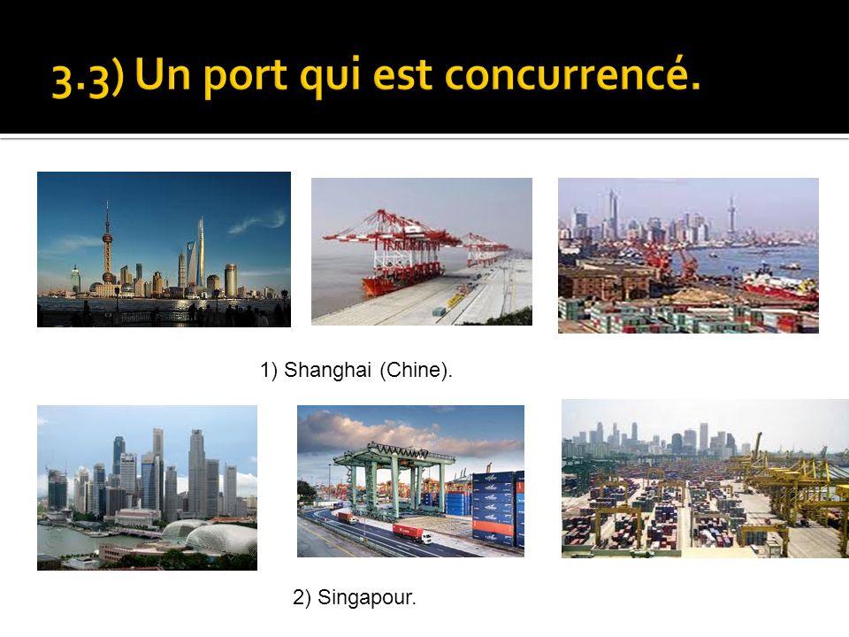 1) Shanghai (Chine). 2) Singapour.
