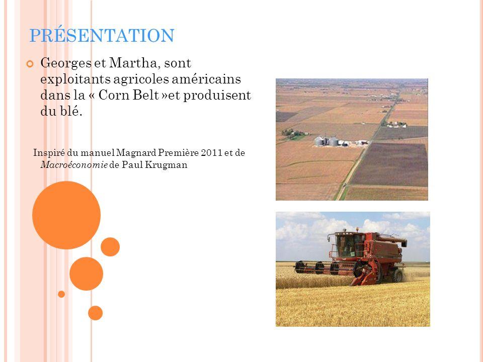 PRÉSENTATION Georges et Martha, sont exploitants agricoles américains dans la « Corn Belt »et produisent du blé. Inspiré du manuel Magnard Première 20