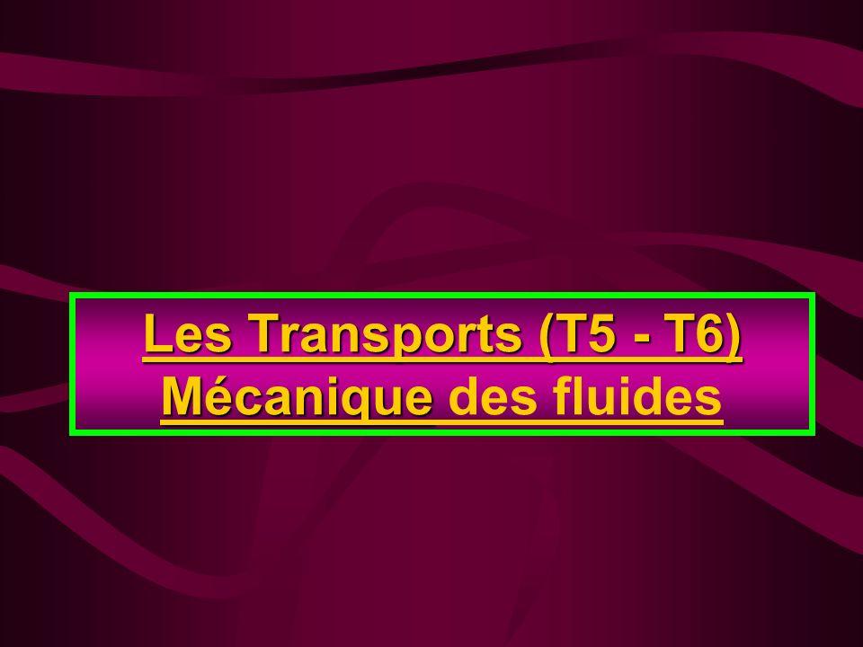 Les Transports (T5 - T6) Mécanique Les Transports (T5 - T6) Mécanique des fluides