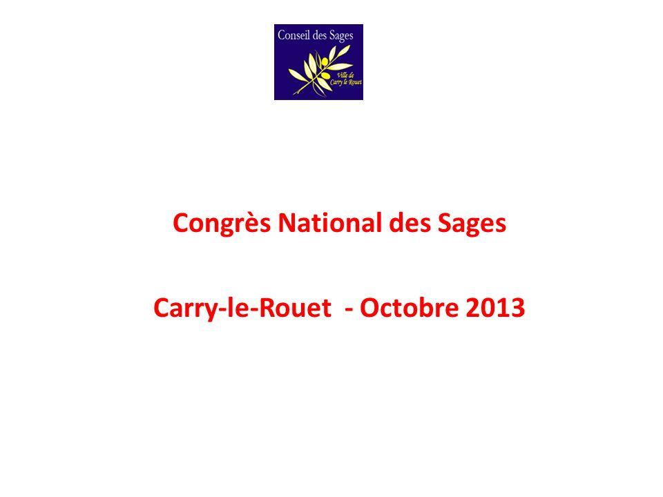 Congrès National des Sages Carry-le-Rouet - Octobre 2013