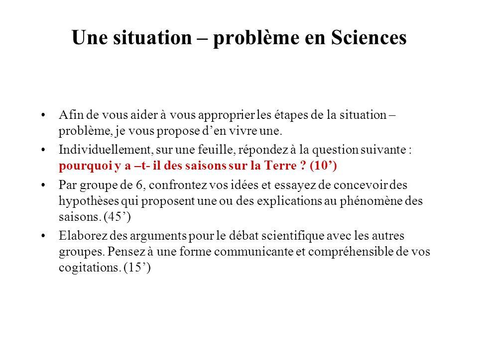 Conclusion : apprendre cest : Cest être déséquilibré dans ce que lon sait par un problème. Cest problématiser. Cest résoudre un problème. Cest stabili