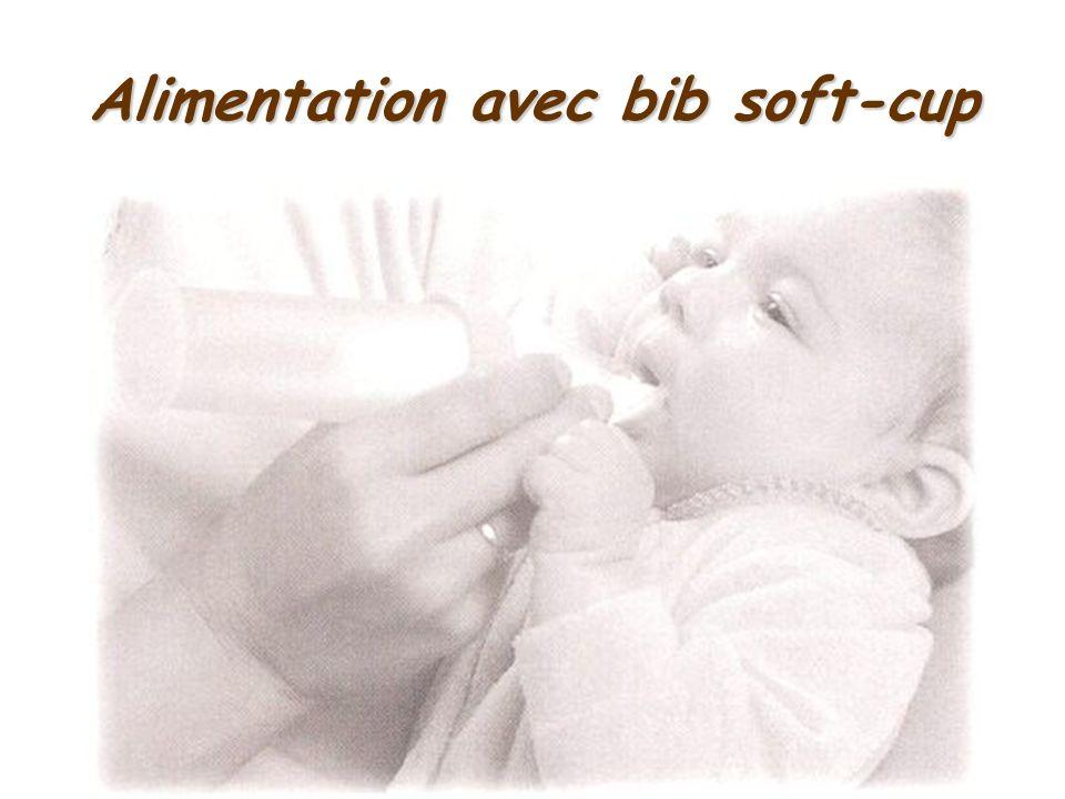 Alimentation avec bib soft-cup