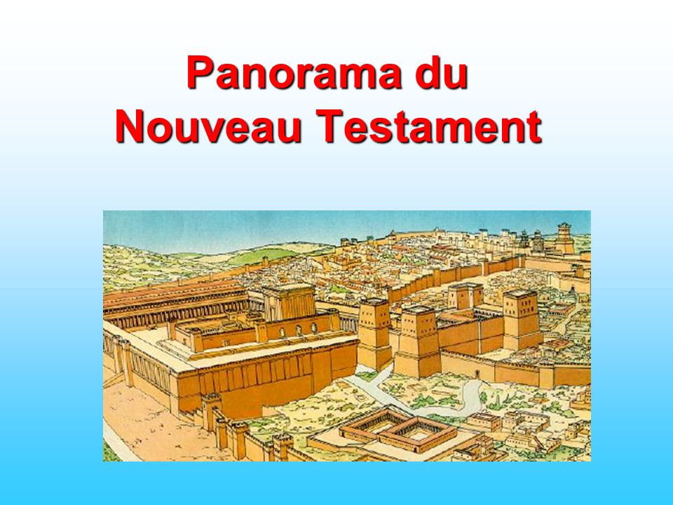 La nativité Les premières prédications Jésus marche sur les eaux Le sermon sur la montagne La croix Paul Les épîtres LApocalypse