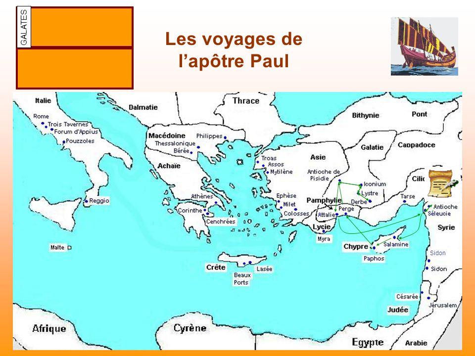 Les voyages de lapôtre Paul Sidon GALATES