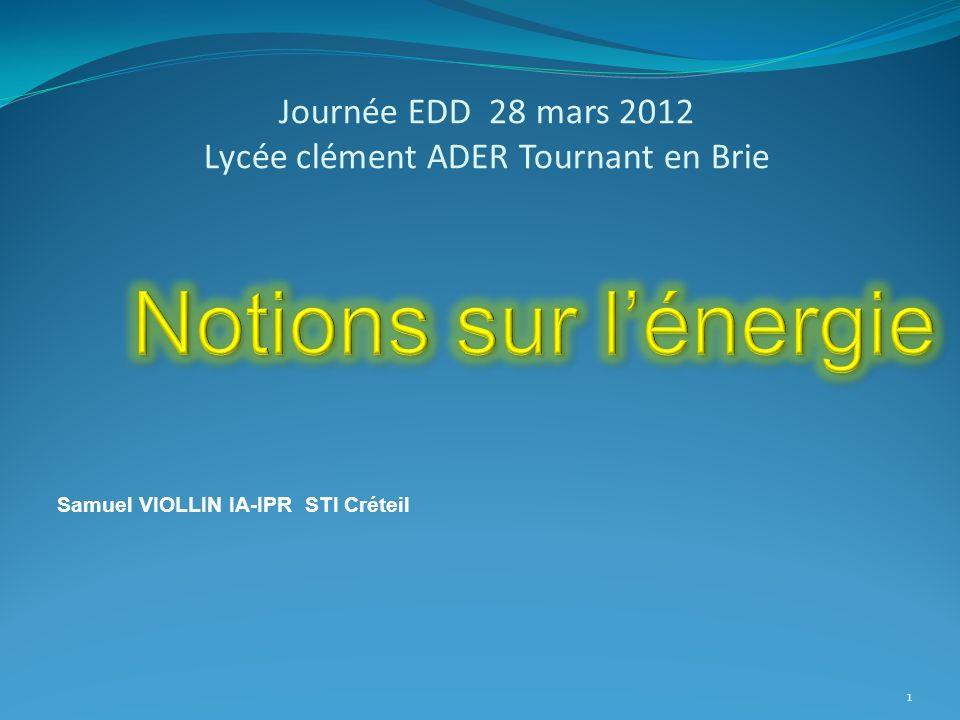 Journée EDD 28 mars 2012 Lycée clément ADER Tournant en Brie Samuel VIOLLIN IA-IPR STI Créteil 1