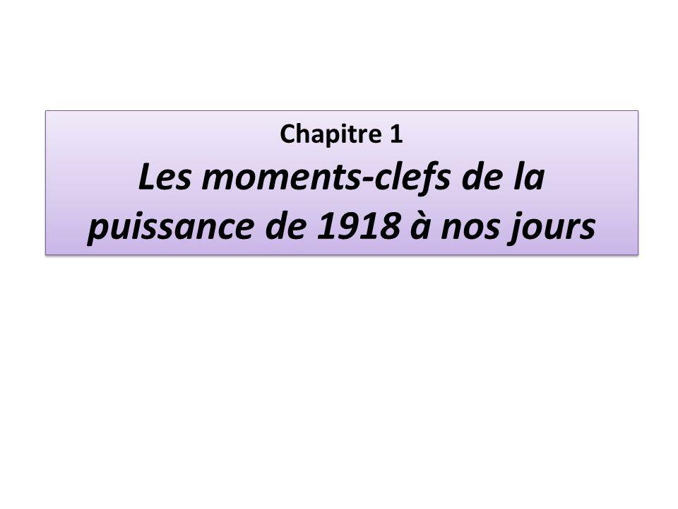 Chapitre 1 Les moments-clefs de la puissance de 1918 à nos jours