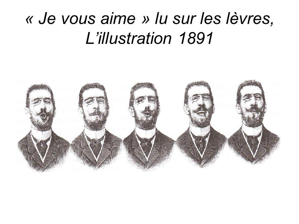 « Je vous aime » lu sur les lèvres, Lillustration 1891