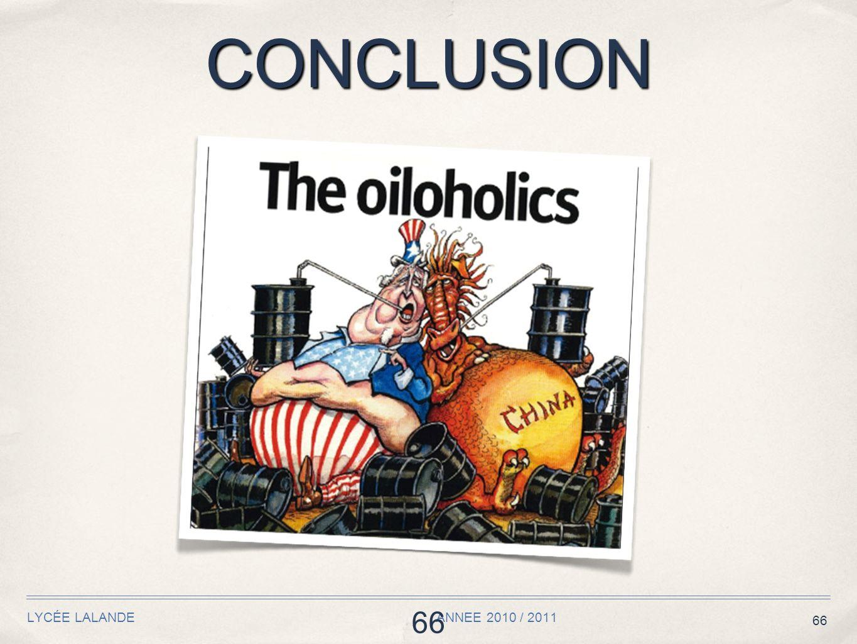 66 CONCLUSION LYCÉE LALANDE ANNEE 2010 / 2011 66