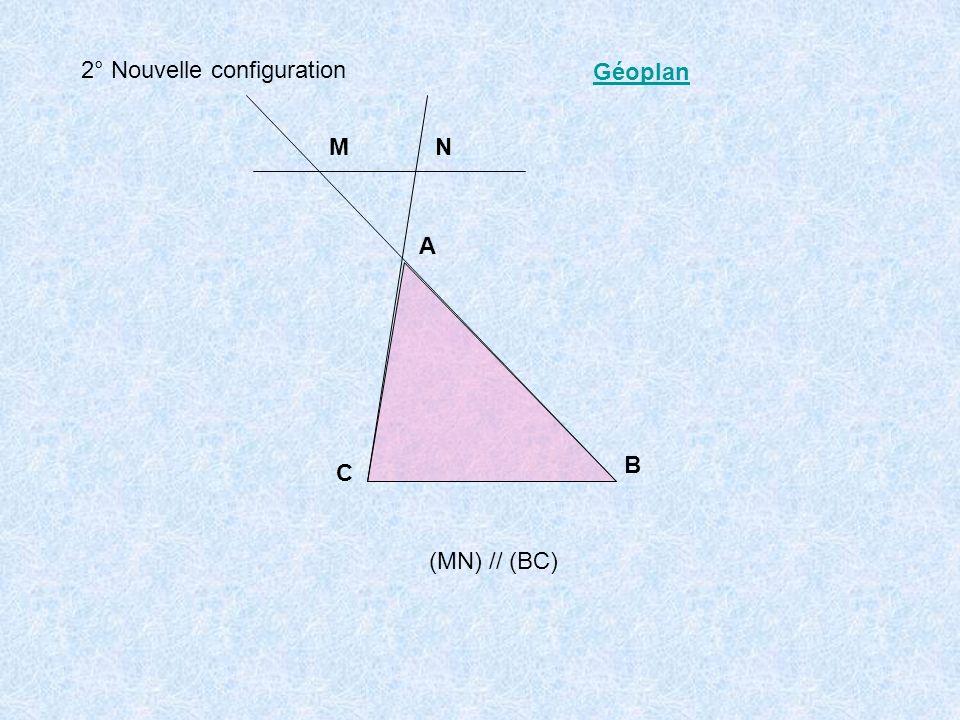 3° Théorème de THALES Dans les trois configurations précédentes.