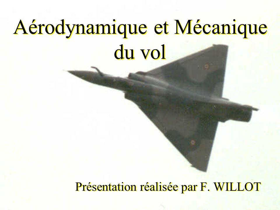 Aérodynamique et Mécanique du vol Présentation réalisée par F. WILLOT