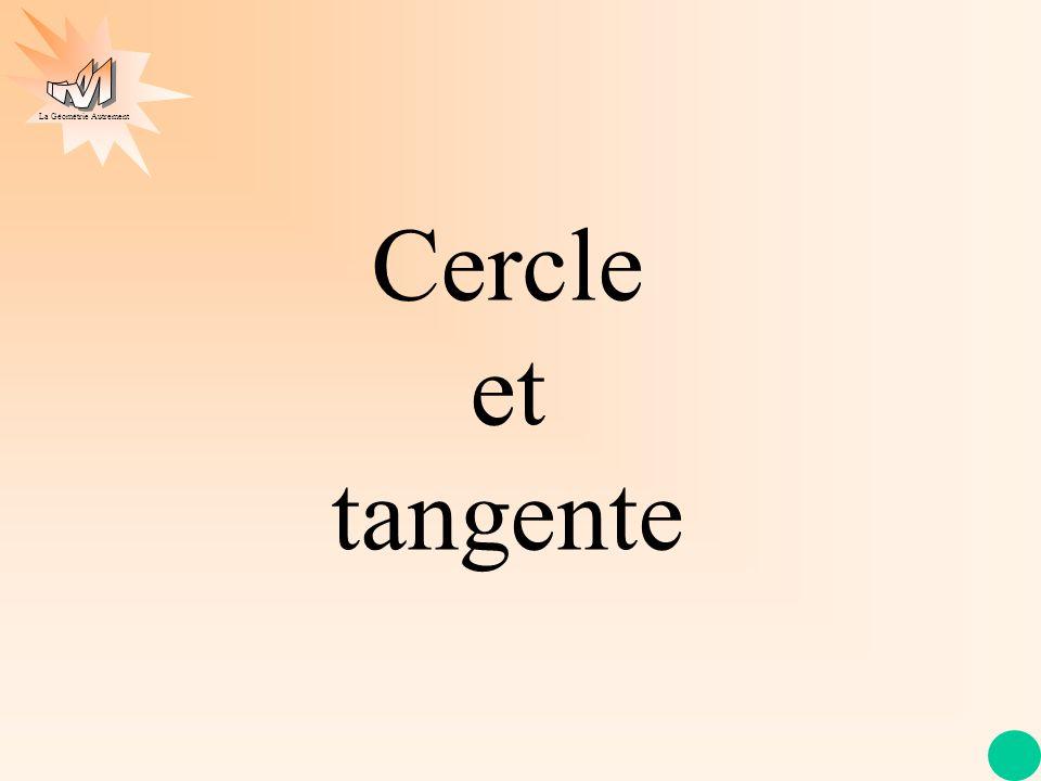 La Géométrie Autrement Cercle et tangente
