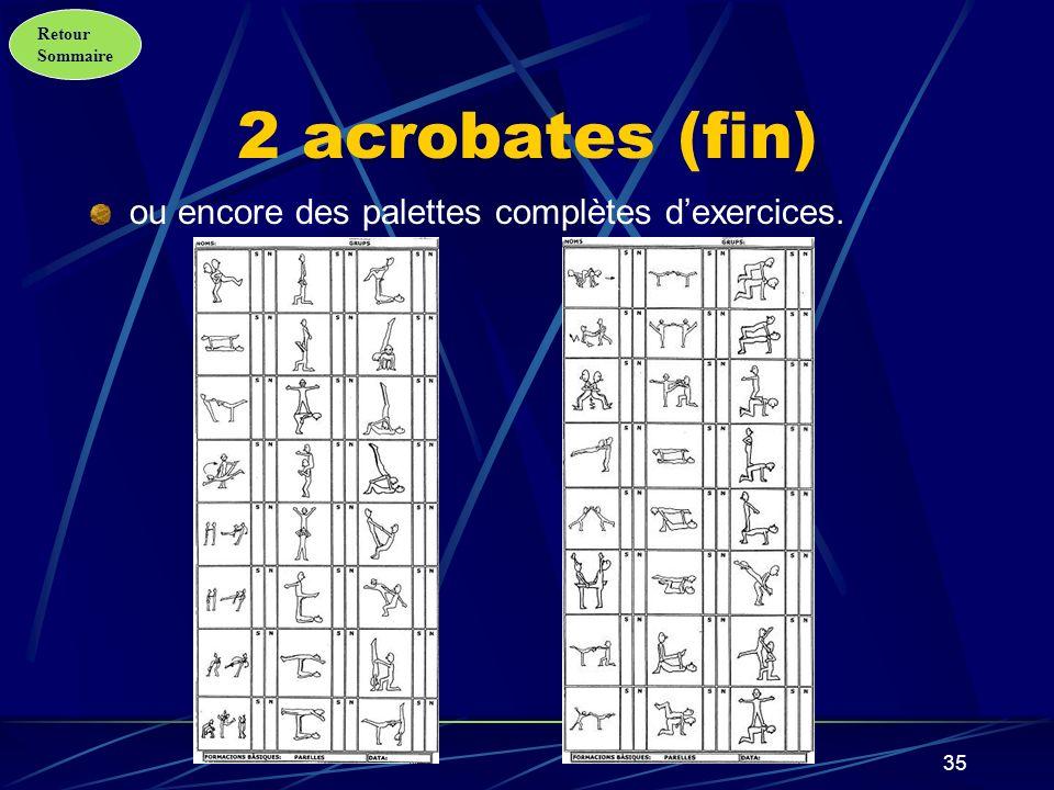 Retour Sommaire 36 3 acrobates Des modèles représentatifs…