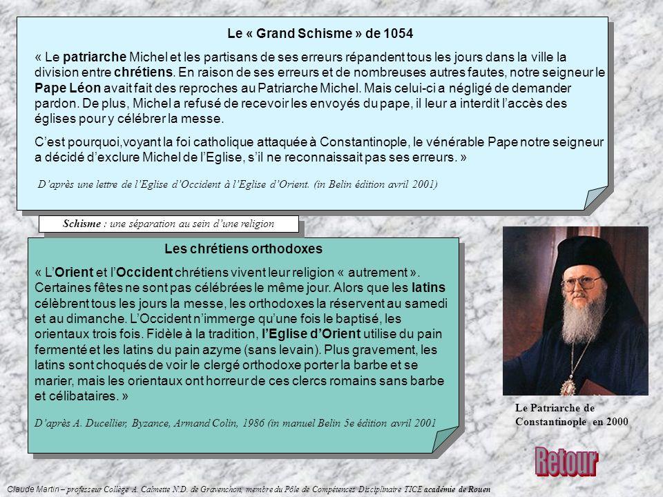 Claude Martin – professeur Collège A. Calmette N.D. de Gravenchon, membre du Pôle de Compétences Disciplinaire TICE académie de Rouen Le « Grand Schis
