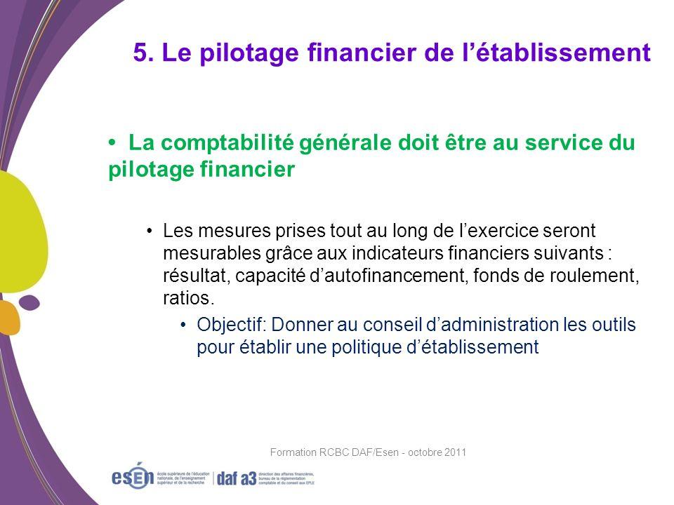 La comptabilité générale doit être au service du pilotage financier Les mesures prises tout au long de lexercice seront mesurables grâce aux indicateu