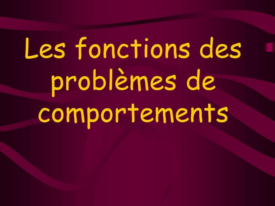 Les fonctions des problèmes de comportements