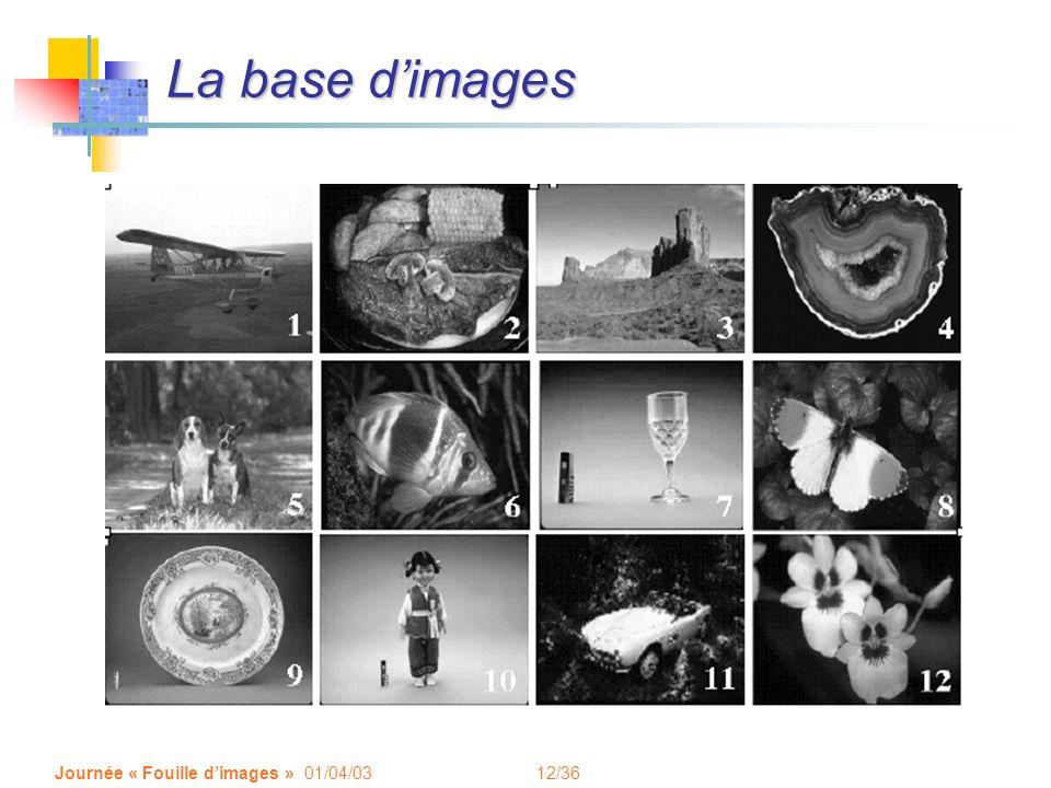 12/36 Journée « Fouille dimages » 01/04/03 La base dimages