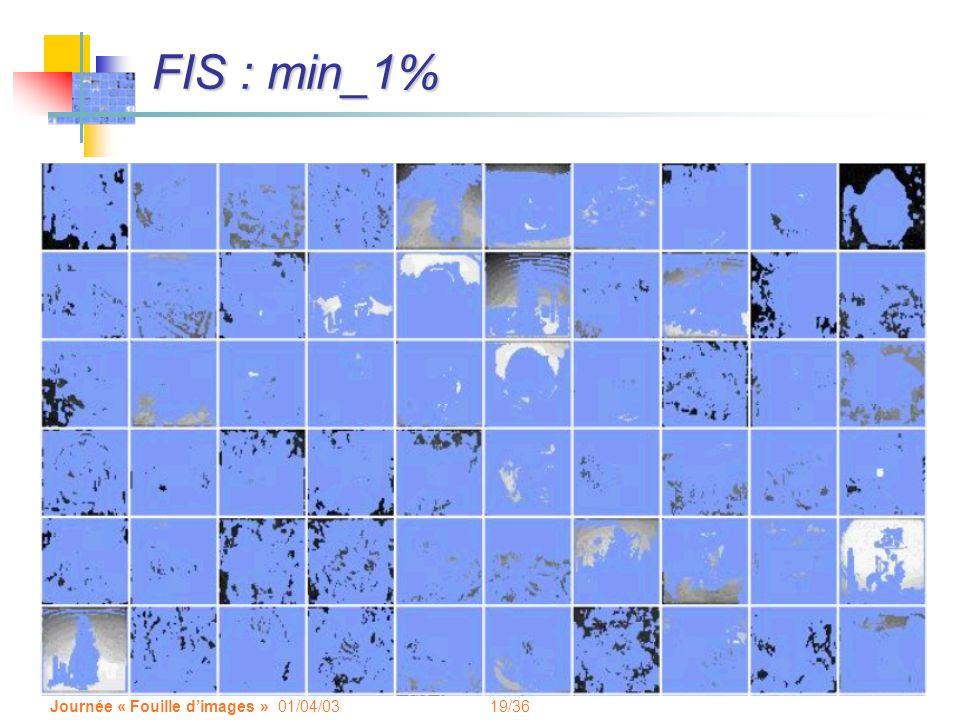 19/36 Journée « Fouille dimages » 01/04/03 FIS : min_1%