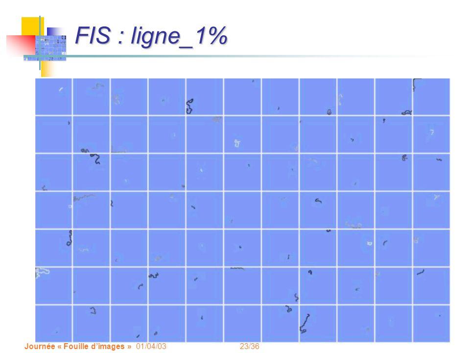 23/36 Journée « Fouille dimages » 01/04/03 FIS : ligne_1%