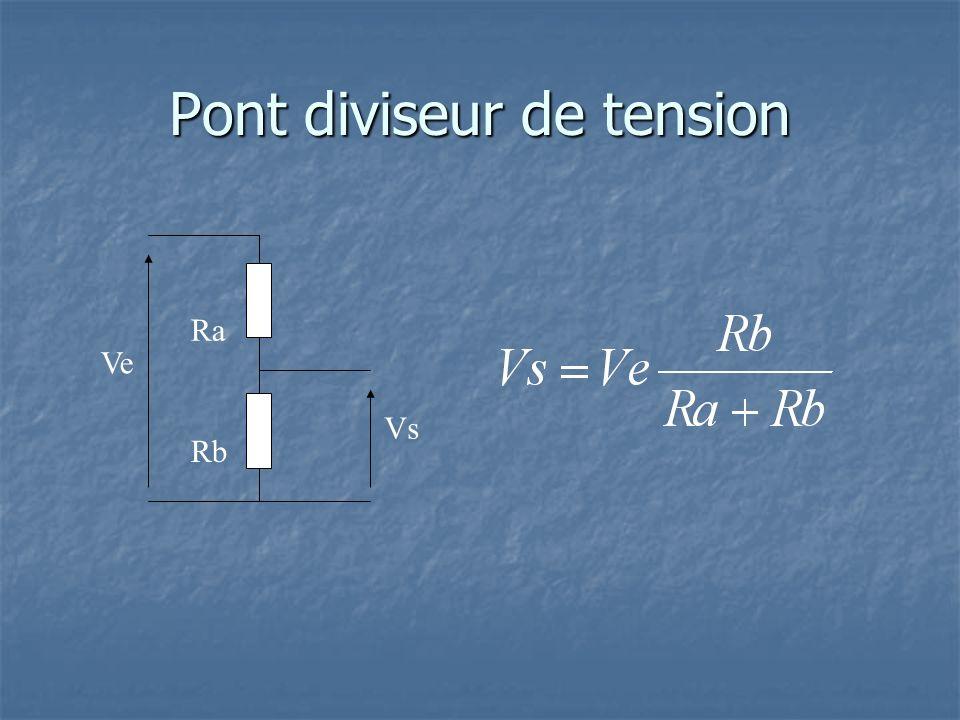 Pont diviseur de tension Ra Rb Vs Ve