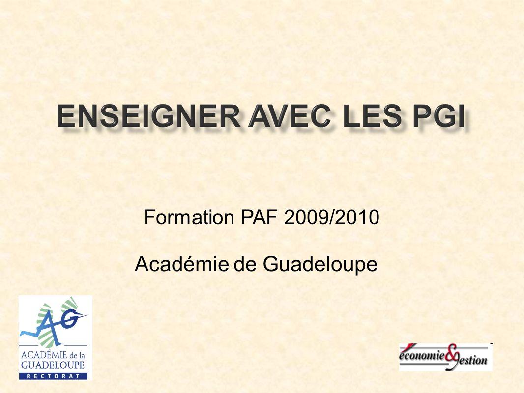 Formation PAF 2009/2010 Académie de Guadeloupe