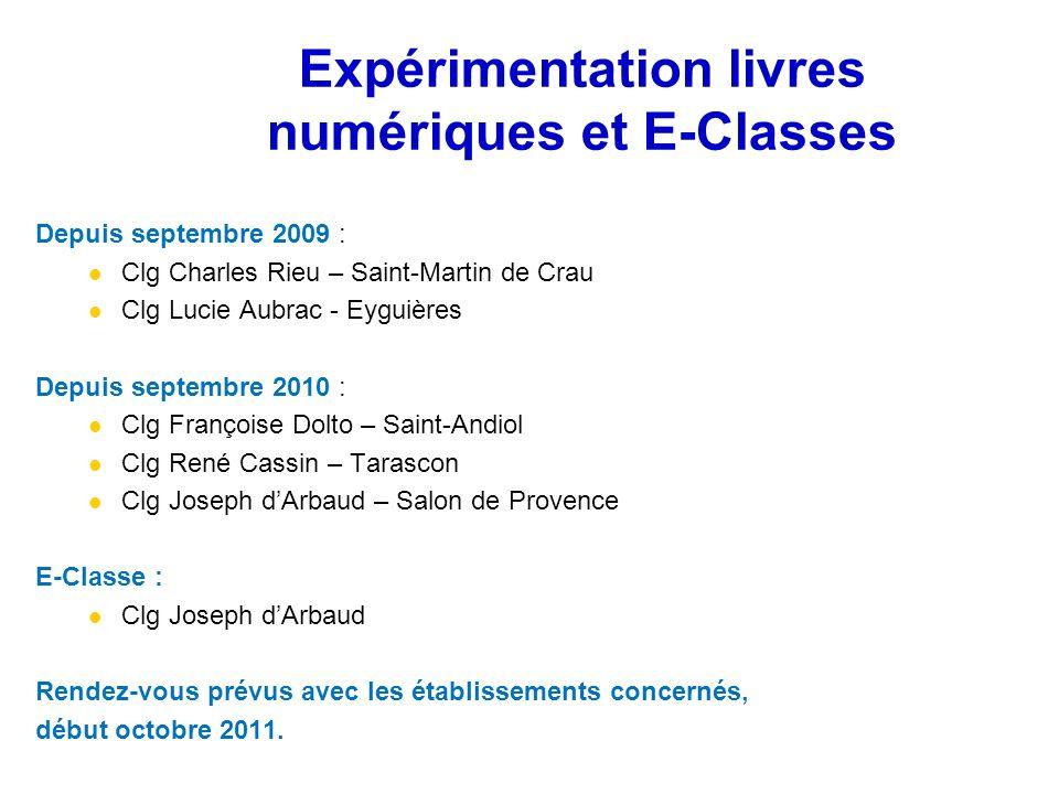 Depuis septembre 2009 : Clg Charles Rieu – Saint-Martin de Crau Clg Lucie Aubrac - Eyguières Depuis septembre 2010 : Clg Françoise Dolto – Saint-Andio