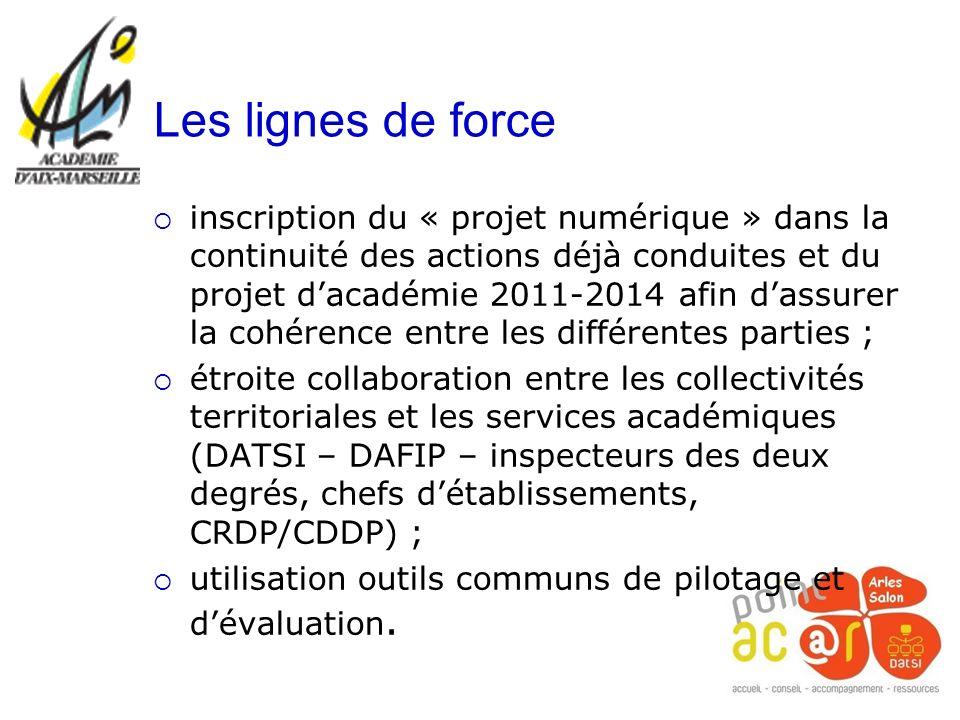 inscription du « projet numérique » dans la continuité des actions déjà conduites et du projet dacadémie 2011-2014 afin dassurer la cohérence entre le