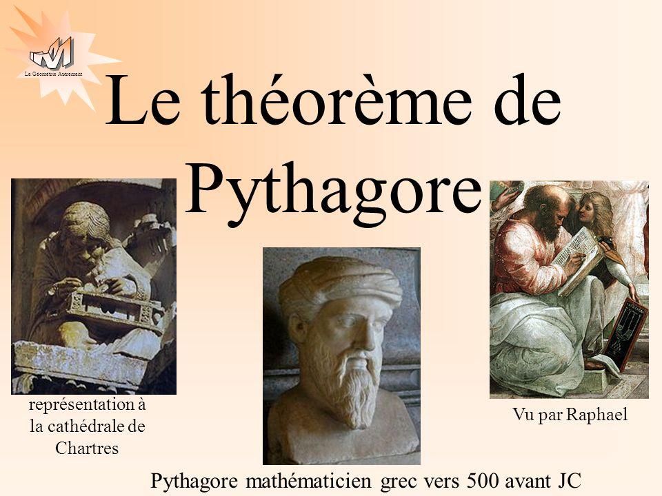 La Géométrie Autrement Le théorème de Pythagore vocabulaire démonstration exemplesexemples : réciproque ex 1ex 2 ex 3 exemples r exemples r : ex 1rex 2r ex 3r