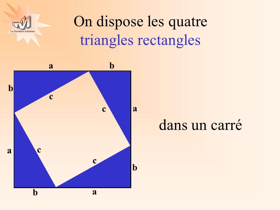 La Géométrie Autrement On obtient un nouveau carré JOLI a b c a b c a b c a b c J O L I